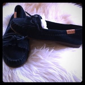 NWOT Coach suede loafers